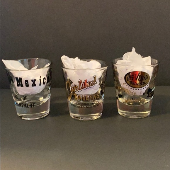 Set of 3 Souvenir Shot Glasses